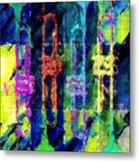 Trumpets Abstract Metal Print