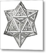 Truncated And Elevated Hexahedron With Open Faces Metal Print