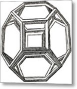 Truncated Octahedron With Open Faces Metal Print