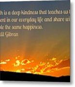 Truth And Happiness Metal Print