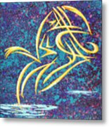 Trying New Waters Metal Print
