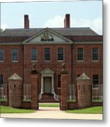 Tryon Palace Front With Gaurd Posts Metal Print