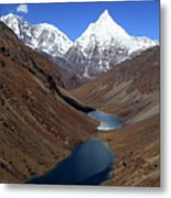 Tsho Phu Lakes And Jichu Drake Metal Print