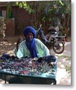 Tuareg Man Selling Jewelry Metal Print