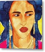 Tuareg Woman Metal Print