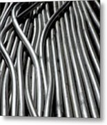 Tubular Abstract Art Number 15 Metal Print