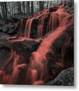 Tucker Brook Falls Ir 1 Metal Print
