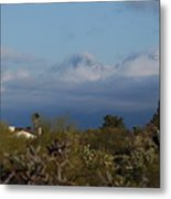 Tucson In Winter Metal Print