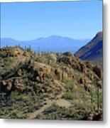 Tucson Mountain Ranges Metal Print