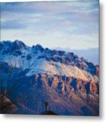 Tucson Mountains Snow Metal Print