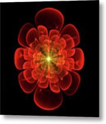 Tudor Rose - Abstract Metal Print