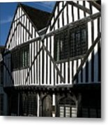 Tudor Timber Metal Print