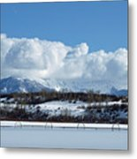 Tuff Over Baldy Metal Print