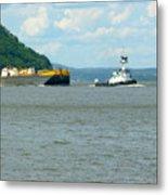 Tug And Barge Metal Print
