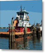 Tug Indian River At Port Canaveral In Florida Usa Metal Print