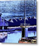 Tug Reflections Metal Print