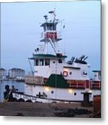 Tugboat At Twilight Metal Print