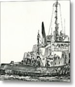 Tugboat David Foss Metal Print