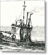 Tugboat Lela Foss Metal Print