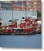 Tugs At Rest Metal Print