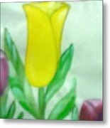Tulip And Hummingbird Metal Print