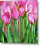 Tulip Bloomies 1 - Pink Metal Print