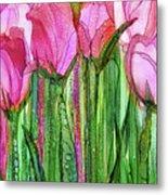 Tulip Bloomies 2 - Pink Metal Print