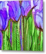 Tulip Bloomies 2 - Purple Metal Print