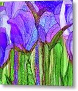 Tulip Bloomies 3 - Purple Metal Print