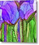 Tulip Bloomies 4 - Purple Metal Print