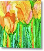 Tulip Bloomies 4 - Yellow Metal Print