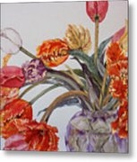 Tulip Bouquet - 12 Metal Print