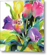 Tulip Pot Metal Print