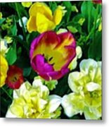 Tulips And Flowers  Metal Print