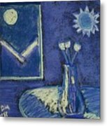 Tulips By Moonlight - Blue Notes Version Metal Print