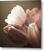 Tulips Glow Metal Print