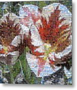 Tulips In Springtime Photomosaic Metal Print