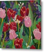 Tulips In The Capitol Metal Print