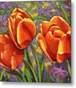 Tulips In The Sun Metal Print