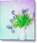 Tulips In Winter Metal Print