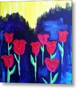 Tulips Of My Heart Metal Print