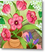 Tulips On A Spring Day Metal Print