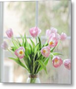 Tulips On The Window Metal Print