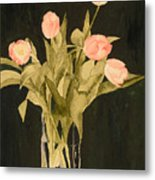 Tulips On Velvet Metal Print
