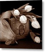 Tulips With Pear II Metal Print