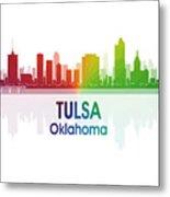 Tulsa Ok 1 Squared Metal Print