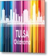 Tulsa Ok 2 Vertical Metal Print