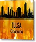 Tulsa Ok 3 Vertical Metal Print
