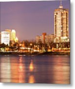 Tulsa Oklahoma Lights On The River Metal Print