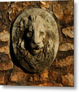 Tulsa Rose Garden Lion Fountain #1 Metal Print
